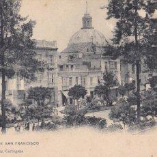 Postales: MURCIA CARTAGENA PLAZA SAN FRANCISCO. ED. DIONISIO MARTINEZ Nº 1158. REVERSO SIN DIVIDIR.. Lote 221714053