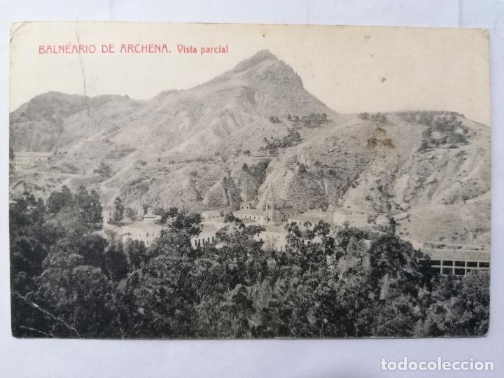 POSTAL MURCIA, BALNEARIO DE ARCHENA - VISTA PARCIAL, ESCRITA, AÑOS 30 (Postales - España - Murcia Antigua (hasta 1.939))