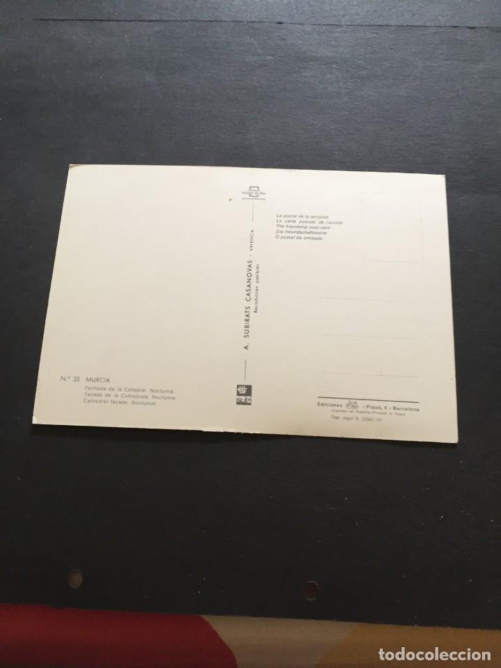 Postales: POSTAL DE MURCIA CATEDRAL - BONITAS VISTAS - LA DE LA FOTO VER TODAS MIS FOTOS Y POSTALES - Foto 2 - 222326482