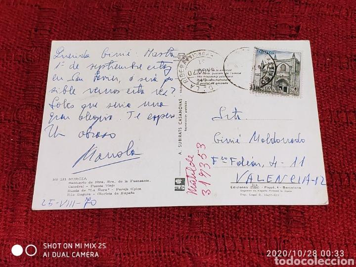 Postales: POSTAL SANTUARIO DE NTRA. SRA. DE LA FUENSANTA, CATEDRAL, PUENTE VIEJO, RUEDA DE LA ÑORA... (MURCIA) - Foto 2 - 222511040
