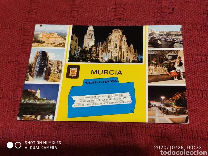 POSTAL SANTUARIO DE NTRA. SRA. DE LA FUENSANTA, CATEDRAL, PUENTE VIEJO, RUEDA DE LA ÑORA... (MURCIA) (Postales - España - Murcia Moderna (desde 1.940))