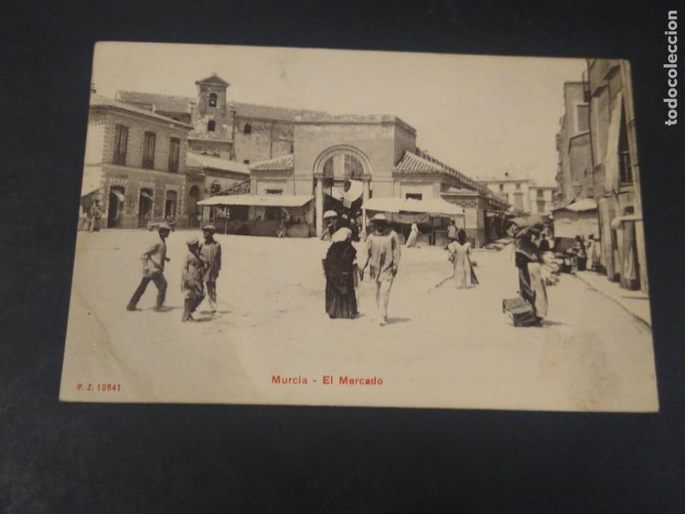 MURCIA, EL MERCADO, P.Z. 10641 SIN CIRCULAR. (Postales - España - Murcia Antigua (hasta 1.939))