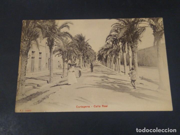 CARTAGENA. CALLE REAL P.Z. 10550 SIN CIRCULAR. (Postales - España - Murcia Antigua (hasta 1.939))