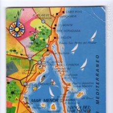 Postales: Nº 3010 MAR MENOR (MURCIA). MAPA -EDICIONES CATALÁN IBARZ, 1979-. Lote 222747458