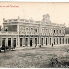 Postales: BONITA POSTAL - MURCIA - ESTACION DEL FERROCARRIL. Lote 224228258
