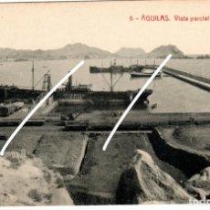 Postales: BONITA POSTAL - AGUILAS (MURCIA) - VISTA PARCIAL DEL MUELLE. Lote 224231586