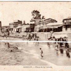 Postales: PRECIOSA POSTAL - AGUILAS (MURCIA) - PLAYA DE LA COLONIA - FOTO MATRAN. Lote 224235985