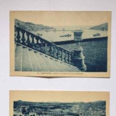 Postales: LOTE DE 2 TARJETAS POSTALES: CARTAGENA (CASAÚ, 1935'S) ¡SIN CIRCULAR! ¡ORIGINALES!. Lote 224483928