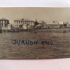 Cartes Postales: LOS ALCAZARES (MURCIA) POSTAL FOTOGRAFÍCA. PLAYA DE CARRION, TIP. GALCA TORRE PACHECO (H.1950?) S/C. Lote 225298040