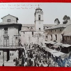 Postales: POSTAL MURCIA LORCA BARRIO SAN CRISTOBAL Y PLAZA DE VERDURA FOTOGRAFICA ORIGINAL P1086. Lote 226613122
