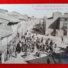 Postales: POSTAL MURCIA LORCA BARRIO SAN CRISTOBAL Y CALLE MAYOR FOTOGRAFICA ORIGINAL P1087. Lote 226613615