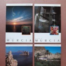 Postales: LOTE 4 POSTALES CONSEJERÍA DE CULTURA EDUCACIÓN Y TURISMO. REGIÓN DE MURCIA. SIN CIRCULAR.. Lote 227236015