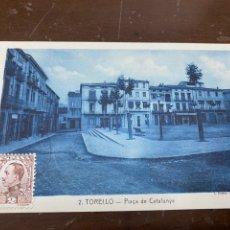 Postales: TORELLÓ 2- PLAÇA DE CATALUNYA. AZULADA. CIRCULADA, SELLO. 1931. ROISIN.. Lote 227867190