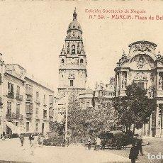 Postales: MURCIA - PLAZA DE BELLUGA Y CATEDRAL - ED. SUCESORES DE NOGUES Nº 39. Lote 233967790
