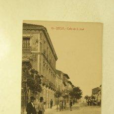 Postales: RARA YECLA 10 CALLE DE SAN JOSE ANIMADA MURCIA FOTO RIPOLL. Lote 234460520