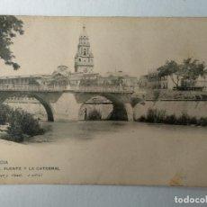 Cartes Postales: MURCIA.- EL PUENTE Y LA CATEDRAL. HAUSER Y MENET.. Lote 234656670