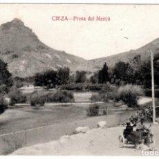 Postales: PRECIOSA POSTAL - CIEZA (MURCIA) - PRESA DEL MENJÚ. Lote 235339115