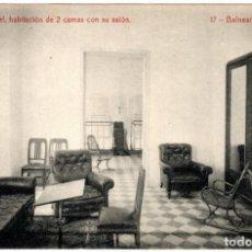Postales: BONITA POSTAL - BALNEARIO DE FORTUNA (MURCIA) - GRAN HOTEL - HABITACION DE 2 CAMAS CON SU SALON. Lote 235343485