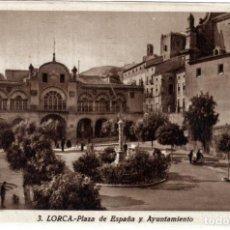 Postales: BONITA POSTAL - LORCA (MURCIA) - PLAZA DE ESPAÑA Y AYUNTAMIENTO. Lote 235357785