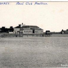 Postales: BONITA POSTAL - ALCAZARES (MURCIA) - REAL CLUB NAUTICO DEL MAR Y PASEO DE CARRION. Lote 235365995