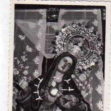 Postales: FOTOGRAFÍA FORMATO POSTAL SIN REVERSO. DOLOROSA, RECUERDO DE LA CORONACIÓN VIRGEN 1955 CARTAGENA. Lote 235795435