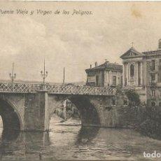 Postales: MURCIA. PUENTE VIEJO Y VIRGEN DE LOS PELIGROS.. Lote 241916150