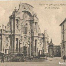Postales: MURCIA. PLAZA DE BELLUGA Y FACHADA DE LA CATEDRAL.. Lote 241916340