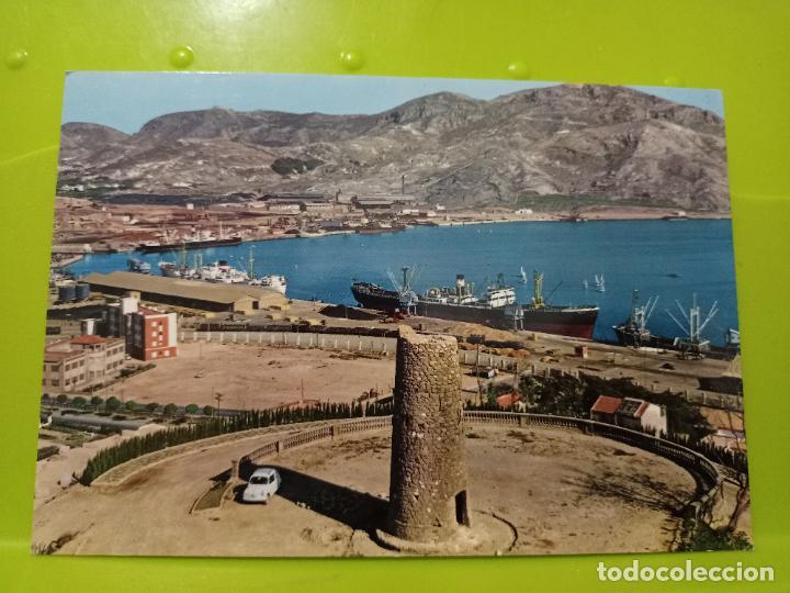 CARTAGENA PARQUE TORRES PVERTO GARRABELLA 27 ESCRITA AÑO 1970 SEAT 600 CVRIOSA COLECCIONABLE (Postales - España - Murcia Antigua (hasta 1.939))