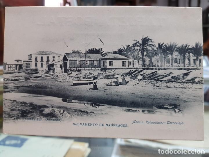 ANTIGUA POSTAL SALVAMENTO DE NAUFRAGOS TORREVIEJA ALICANTE (Postales - España - Murcia Antigua (hasta 1.939))