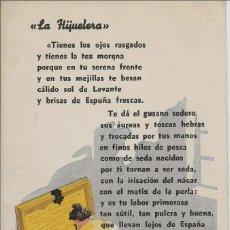 Postales: LA HIJUELERA, NOGUES .MURCIA. Lote 245533070