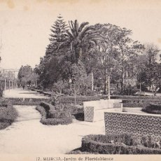 Postales: MURCIA, JARDIN DE FLORIDABLANCA. ED. FOTO ROISIN Nº 17. SIN CIRCULAR. Lote 254041035