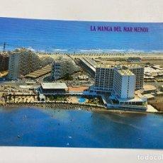 Cartoline: TARJETA POSTAL. LA MANGA DEL MAR MENOR. 3057.- VISTA AÉREA DE LA ZONA DEL CASINO. FOTO CATALAN IBARZ. Lote 254972255