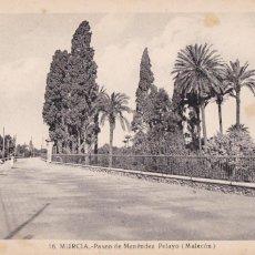 Cartes Postales: MURCIA, PASEO DE MENENDEZ PELAYO, MALECON. ED. FOTO ROISIN Nº 16. SIN CIRCULAR. Lote 257309875