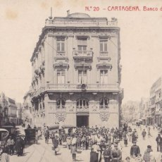 Cartes Postales: MURCIA, CARTAGENA, BANCO DE ESPAÑA. ED. FOTOTIPIA THOMAS Nº 20. SIN CIRCULAR. Lote 258017030