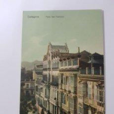 Postales: ANTIGUA POSTAL PLAZA SAN FRANCISCO CARTAGENA MURCIA. Lote 260604015