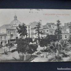 Postales: POSTAL CARTAGENA - PLAZA DEL CORREO - CIRCULADA 1921. Lote 262483375