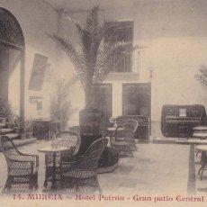 Postais: MURCIA HOTEL PATRÓN GRAN PATIO CENTRAL. ED. ANDRÉS FABERT VALENCIA Nº 14. SIN CIRCULAR. Lote 263071295
