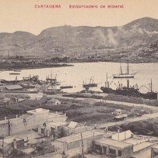 Postales: MURCIA CARTAGENA EMBARCADERO DE MINERAL. ED. ANDRÉS FABERT VALENCIA. SIN CIRCULAR. Lote 267405699