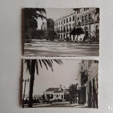 Postais: R-40.- LOTE DE -- 2 -- POSTALES DE -- AGUILAS -- ( MURCIA ) BALNEARIO Y PLAZA DE ESPAÑA, VER FOTOS. Lote 267441264