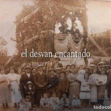 Postales: CARTAGENA. CARROZA DE LA BATALLA DE LAS FLORES. POSTAL FOTOGRÁFICA. H. 1915. Lote 268732274