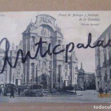 Postales: POSTAL ANTIGUA - MURCIA - PLAZA DE LA BELLUGA Y FACHADA DE LA CATEDRAL - OROGINAL ÉPOCA 1915/1925. Lote 274771713
