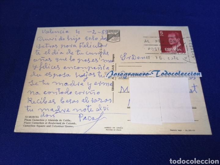 Postales: PLAZA CAMACHOS Y ALAMEDA DE COLON MURCIA - Foto 2 - 275101353