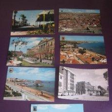 Cartoline: LOTE DE 7 POSTALES MURCIA AÑOS 60-70S - CARTAGENA - MAR MENOR - CABO PALOS - SANTIAGO RIBERA. Lote 275142528