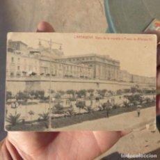 Postales: TARJETA POSTAL INEDITA DE CARTAGENA , VISTA DE LA MURALLA Y PASEO DE ALFONSO XII. Lote 275780103