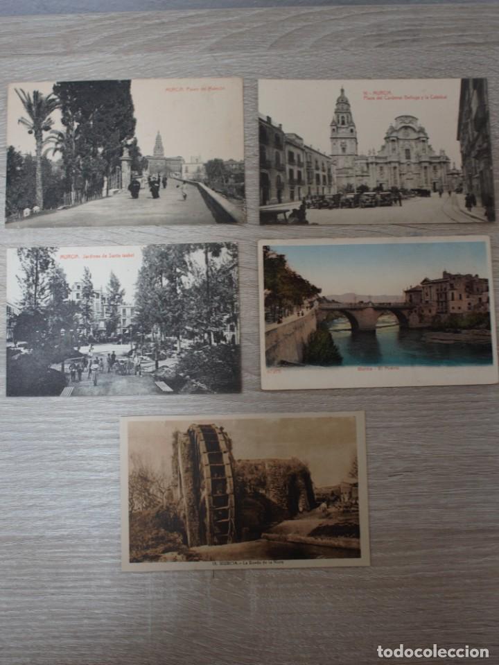 MURCIA - LOTE DE 5 POSTALES (Postales - España - Murcia Moderna (desde 1.940))