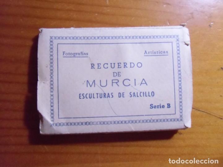 RECUERDO DE MURCIA.ESCULTURAS DE SALCILLO,SERIE B.LIBRILLO 10 FOTOGRAFIAS EDIC.ARRIBAS. (Postales - España - Murcia Moderna (desde 1.940))