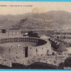 Postales: CARTAGENA. PLAZA DE TOROS Y CUARTELES. COLECCIÓN VDA. DE B. LASSERE.. Lote 277709218