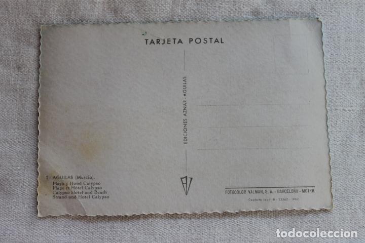 Postales: POSTAL AGUILAS PLAYA Y HOTEL CALYPSO, EDICIONES AZNAR AÑOS 60 - Foto 2 - 278170898