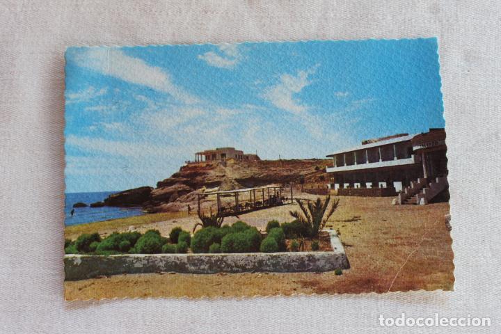 POSTAL AGUILAS PLAYA Y HOTEL CALYPSO, EDICIONES AZNAR AÑOS 60 (Postales - España - Murcia Moderna (desde 1.940))