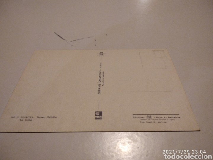 Postales: Postal Murcia, Museo Salzillo, la Cena - Foto 2 - 278293353